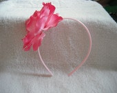 Light pink headband with pink crystal rose flower