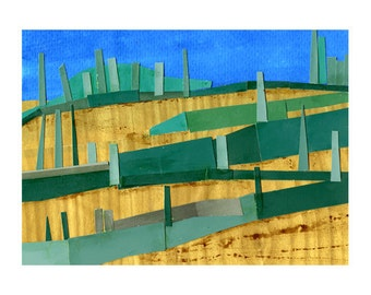 Tuscan Landscape Print, , The Rolling Hills of Tuscany in the Summer Digital Print