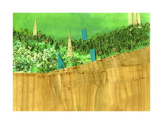 Tuscan Landscape Print, The Cypress Trees of Tuscany