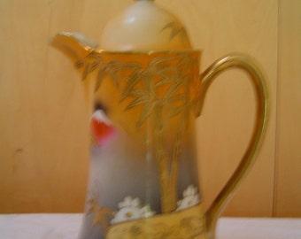 Vintage Asian Chocolate Pot