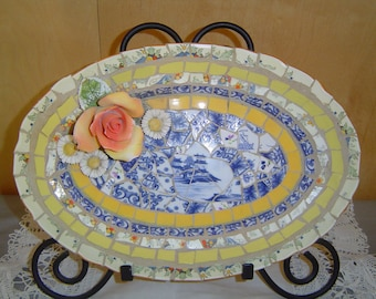 20% Discount////Mosaic platter with broken pottery