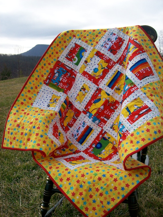 Dr Seuss Baby Quilt Handmade Rising Star Free Shipping