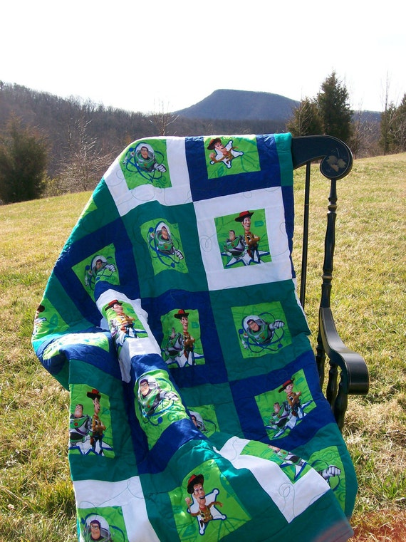 "Quilt Toy Story Baby/Toddler/Child 52""x62""FREE SHIPPING"