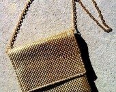 "Vintage Sirocco 1950s ""Miss Kitty"" Gold Mesh Designer Pouch, Purse, Italian"