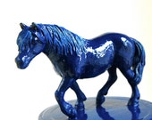 Sapphire Blue Horse Cookie Jar named Elizabeth