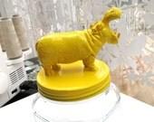 Lemon Yellow Hippo Cookie Jar named Martha