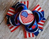 I Love the USA Boutique Bow