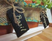 Customizable 4 Piece Herb Garden Planter with Erasable Chalk Board Tags