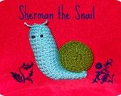 Crocheted Snail