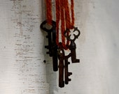Coupon code vintage skeleton key Antique rust patina rusty skeleton key from Peru