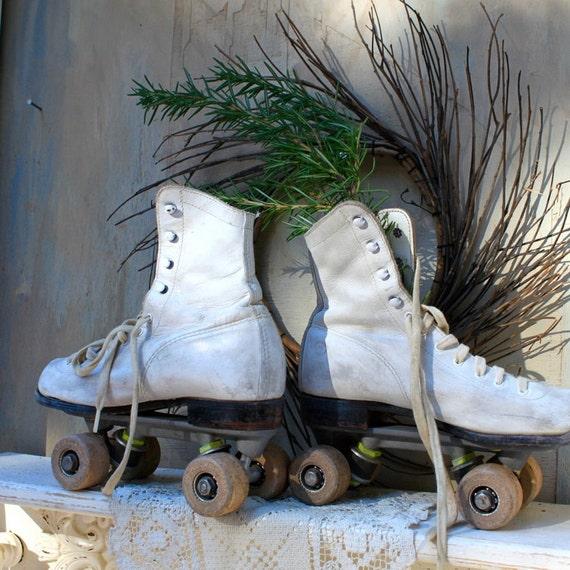 S.A.L.E. 30% off:  Mid Century Vintage roller skates vintage sports roller skating vintage California advertising ephemera