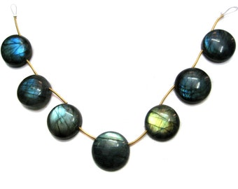 2 pieces of High Flashy Labradorite Round Cabochon Beads , smooth polished , fine quality gemstone beads