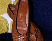 Vintage Leather Woven Flats