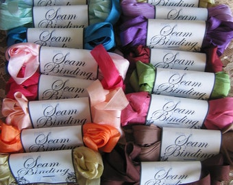 SALE 50 Yards of Gorgeous Seam Binding - Label Design Will Vary - Crafting Supply -Millinery -Ribbon - Sewing