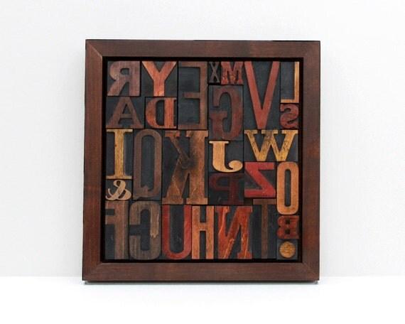 A-Z Alphabet Letterpress Collage