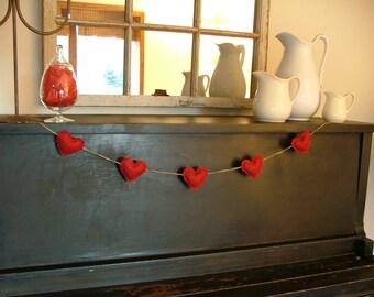 Red Heart Valentine Decoration/Garland/Banner