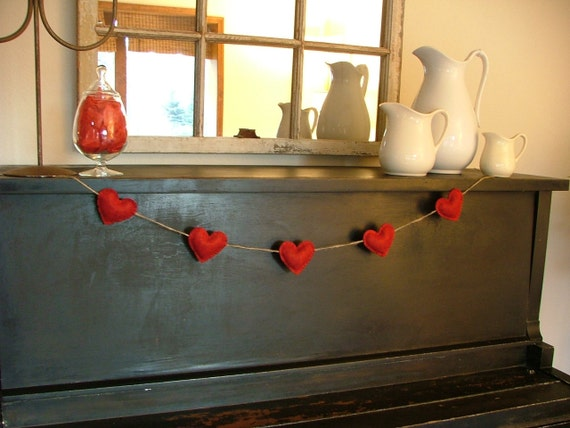 Red Heart Garland/Room Decor/Photo Prop