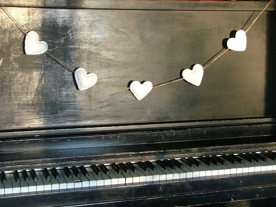 My Lovely All White Heart Garland