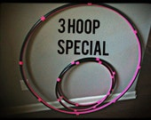 Lot Of 3 Hula HOOPS - 1 Collapsible or Push Button Body Hoop & 2 Mini Arm Hoops - SALE 10 percent off best seller