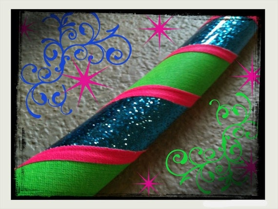Whimsical Dance & Exercise Hula Hoop COLLAPSIBLE or Push Button - blue glitter neon pink green