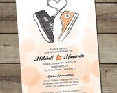 "DIY Custom Printable ""Converse"" Rehearsal Dinner Invitation"