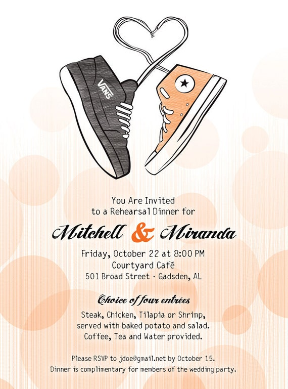 Diy Custom Printable Converse Rehearsal Dinner