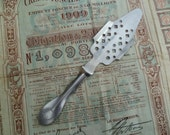 French Vintage Absinthe Spoon for The Green Fairy Advertising Distillerie de Haute Provence Bistro Cafe - joiedefrance