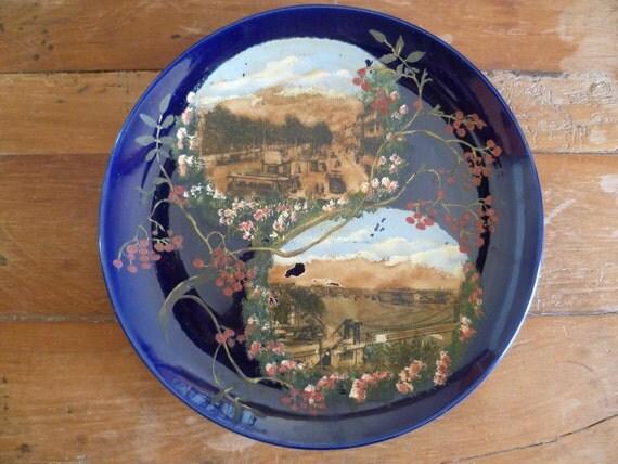Choisy Le Roi Wall Cabinet Plate Charger Hippolyte Boulenger Paris Porcelain