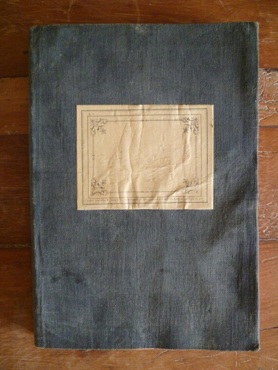 Antique French Ledger Book Account Register Circa 1914 Old Document Post Office