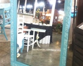 Large Vintage Painted Mirror with French Style Detailing