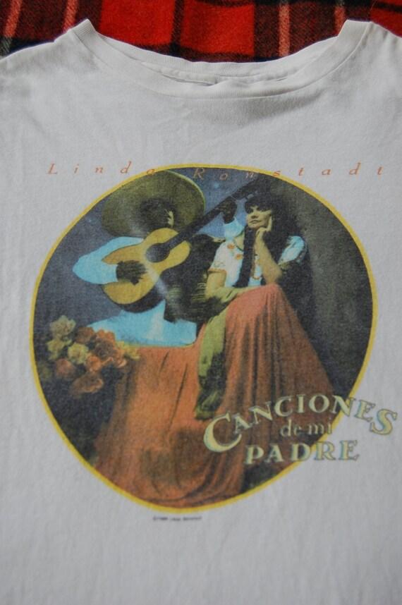 vintage 1986 LINDA RONSTADT canciones de mi padre t-shirt MEDIUM