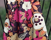 baby girl dress - sundress with mod style flower print. Last one  - 18mo. Ready to ship