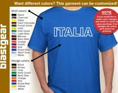 ITALIA retro T-shirt — Any color/Any size - Adult S, M, L, XL, 2XL, 3XL, 4XL, 5XL  Youth S, M, L, XL