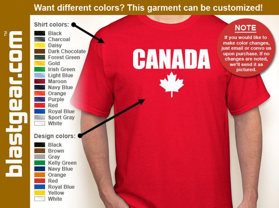 Canada retro T-shirt — Any color/Any size - Adult S, M, L, XL, 2XL, 3XL, 4XL, 5XL  Youth S, M, L, XL