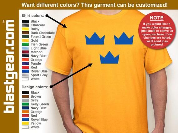 Sweden Tre Kronor hockey T-shirt — Any color/Any size - Adult S, M, L, XL, 2XL, 3XL, 4XL, 5XL  Youth S, M, L, XL