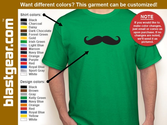 Mustache funny T-shirt — Any color/Any size - Adult S, M, L, XL, 2XL, 3XL, 4XL, 5XL  Youth S, M, L, XL