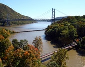 3 Bridges of the Lower Hudson Valley of NY 8X10 Foot Bridge, Railroad Bridge and Bear Mountain Bridge