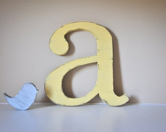 Nursery Letters, Baby Initial, Baby Name, Decor, Wooden Letter