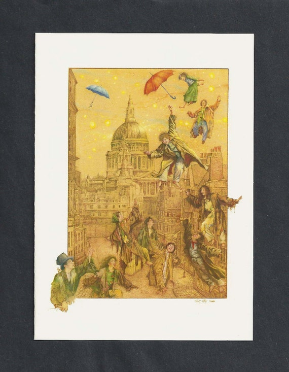 Flying Over London Blank Greeting Card by Tony Troy