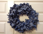 Large Denim Wreath