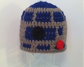 R2D2 Beanie Newborn to 12 Months FREE usa SHIPPING