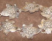 Vintage Sterling Silver Grapevine Bracelet