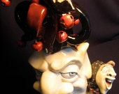 Jester (No. 3) - OOAK Original Collectible Porcelain Face Jug