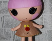 "Hand made top-dress for 7"" Lalaloopsy Littles doll - funny face SALE"