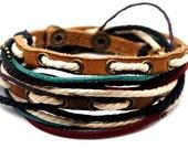 Leather Bracelet Wristband cuff bracelet friendship bracelets Mens Womens d28