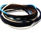 Leather Bracelet Wristband Mens Womens d14