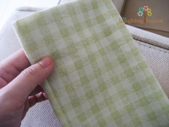 JAPANESE Fabric: Pastel Green Gingham (Remnant Piece)