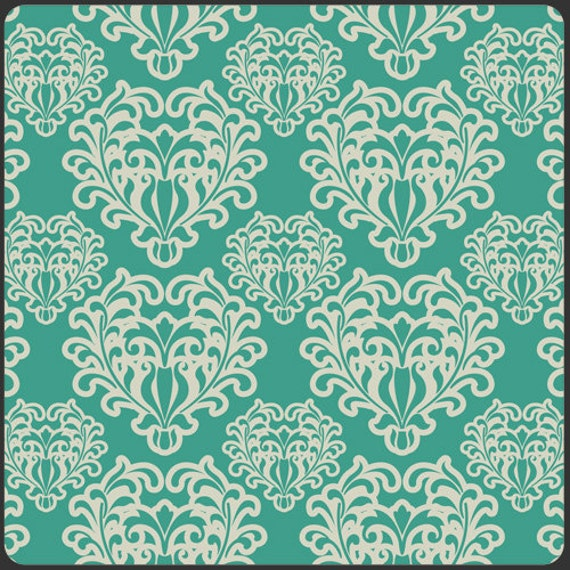 Art Gallery Fabric - PATRICIA BRAVO - Summer Love Collection - SunKissed Palette - Passionate Spirit in Teal (Remnant Piece)