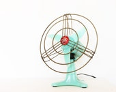 Vintage retro mint 50s fan by bjm
