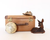 Vintage retro brown suitcase luggage